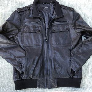Genuine Leather Black Rivet Jacket